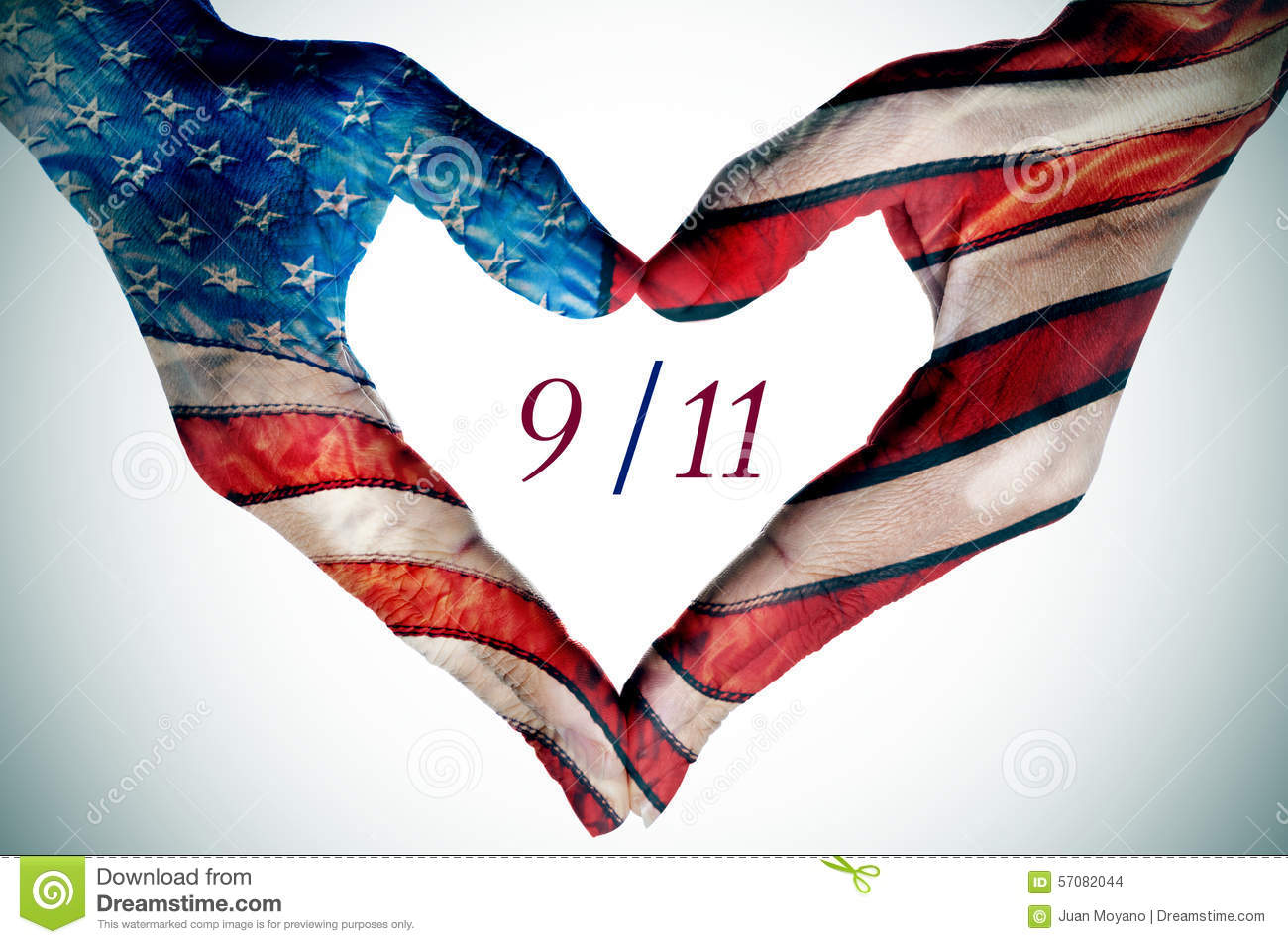 Hands Forming A Heart Patterned As The Flag Of The United States Stock Images