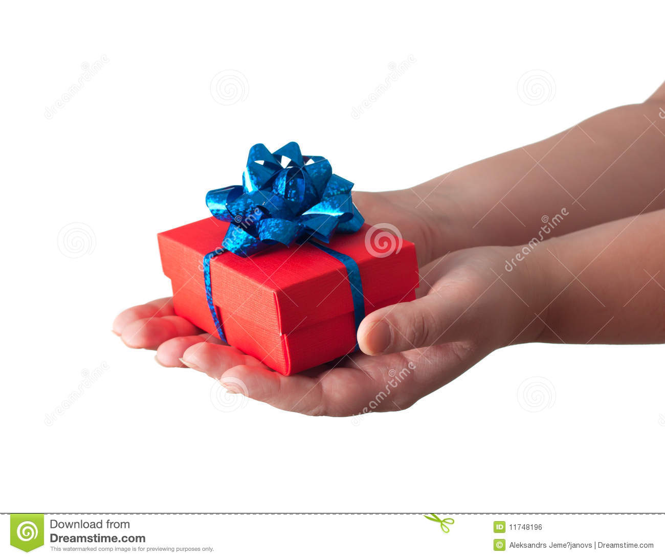 Hands Giving A Gift Royalty Free Stock Image Image 11748196