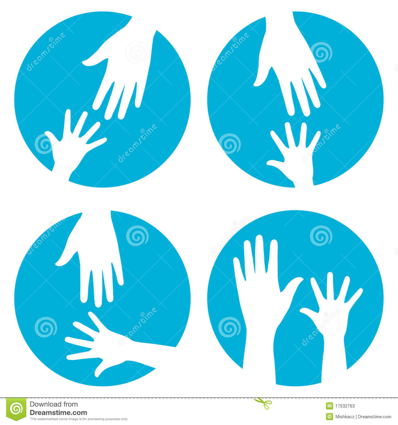 Hands help - icon set Stock Helping Hand Icon