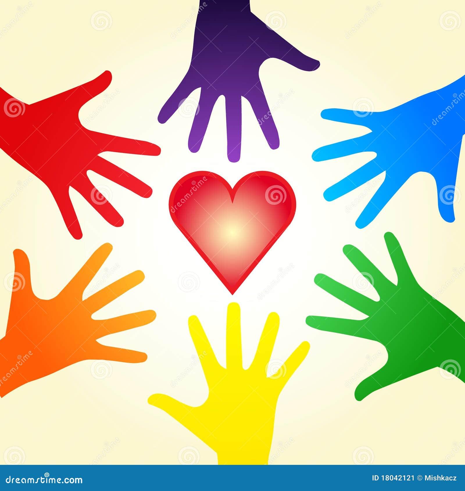 Hands hjärtaregnbågen