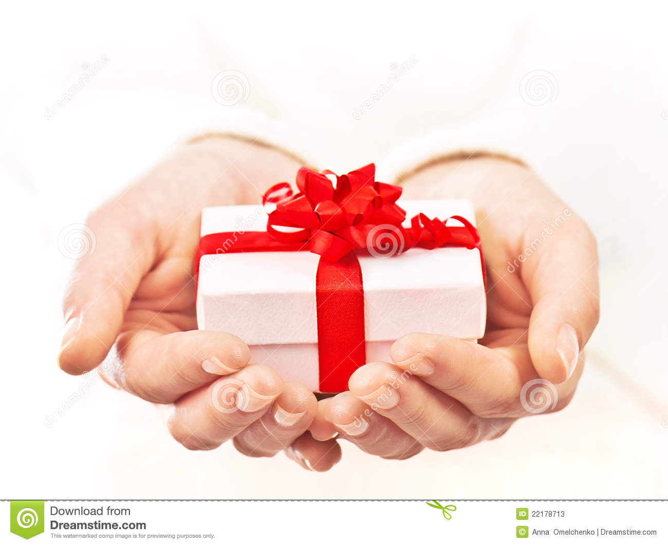 Hands Holding Beautiful Gift Box Stock Image Image Of