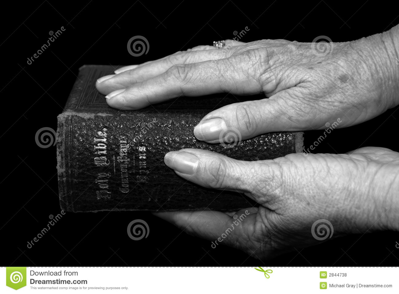 hands holding a bible royalty free stock photos image