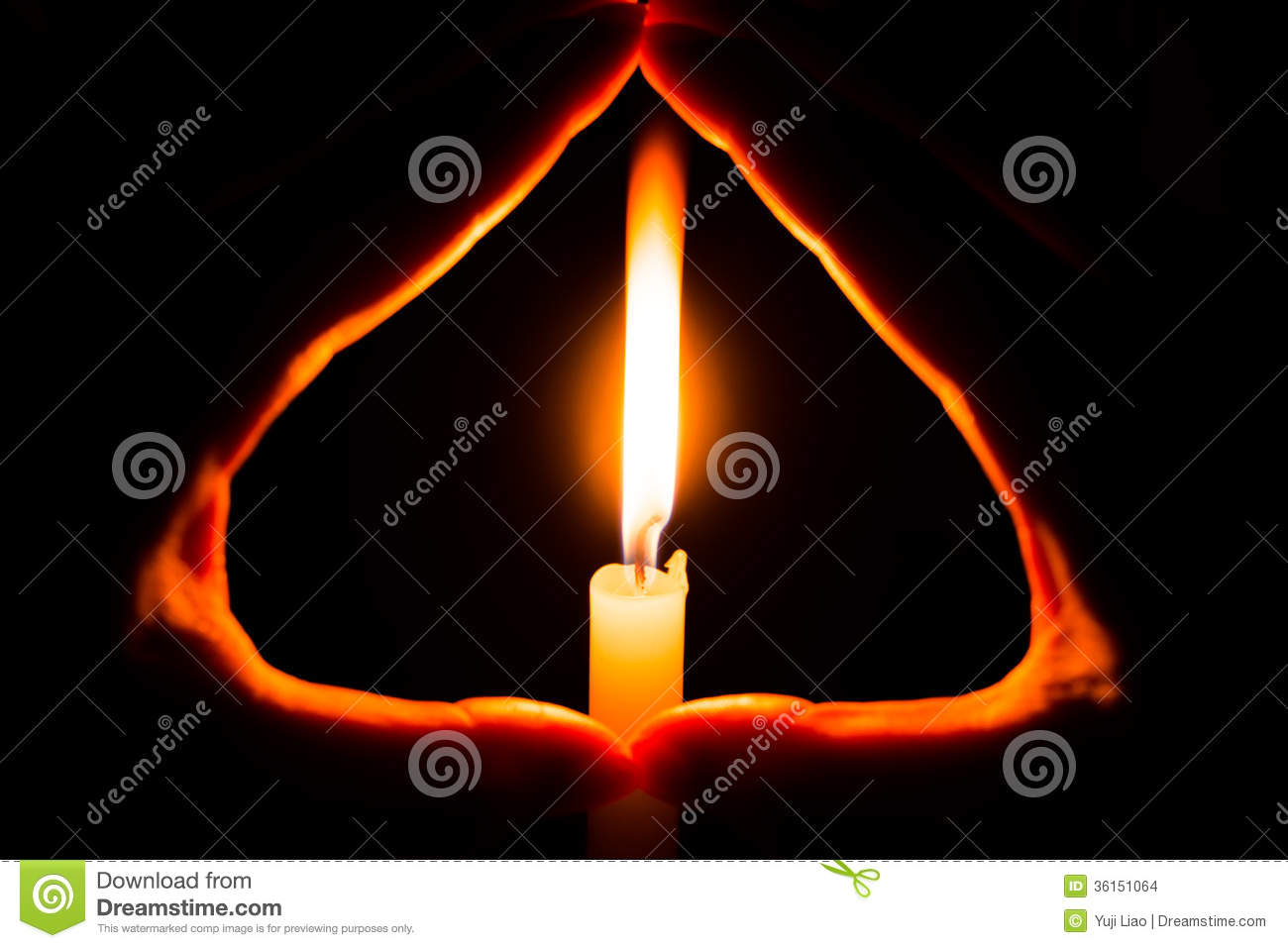 Hands Holding A Burning Candle In Dark Stock Illustration ... for Holding Candle In The Dark  539wja