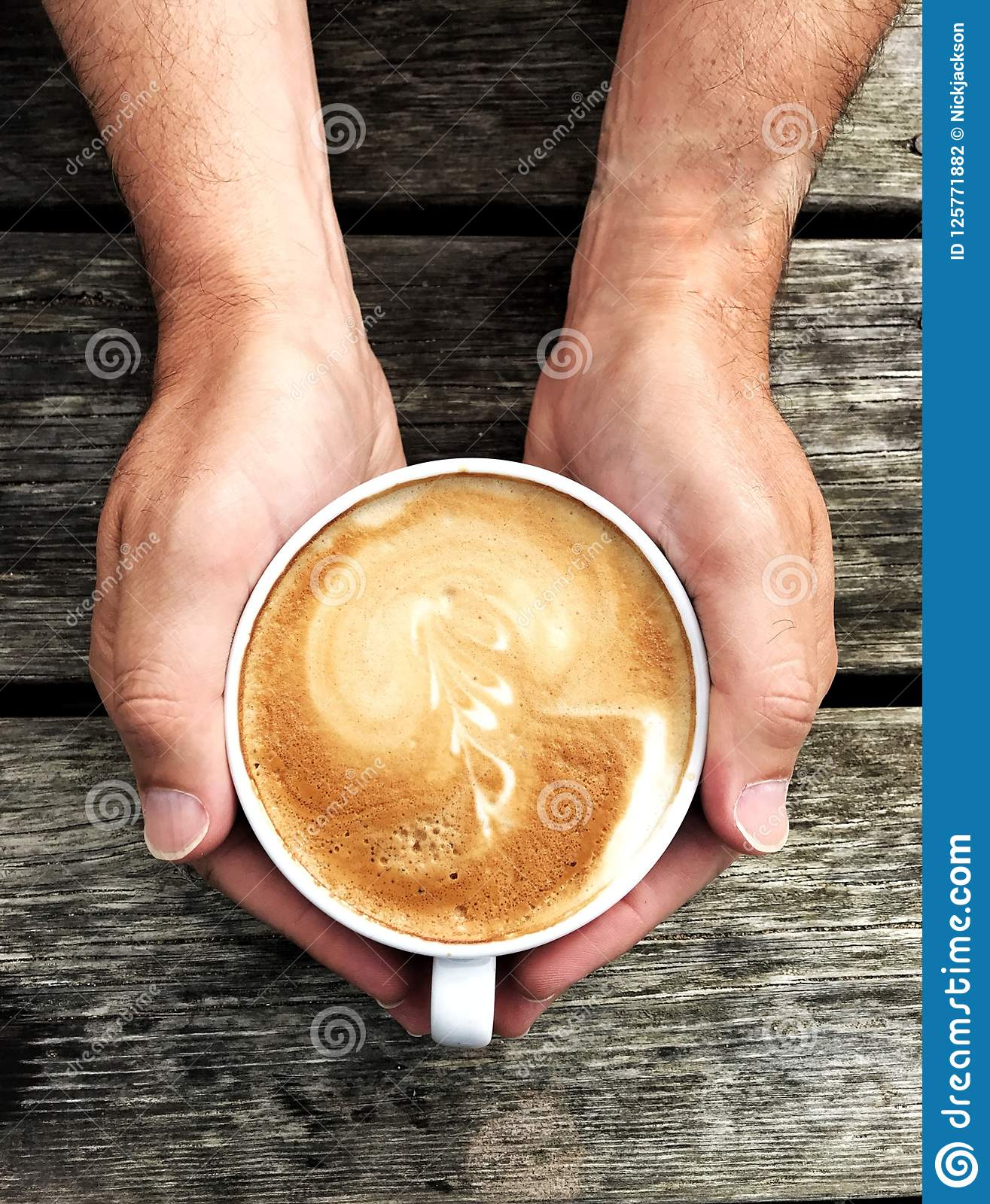Hands Holding Coffee Cup Stock Photo Image Of Comfort