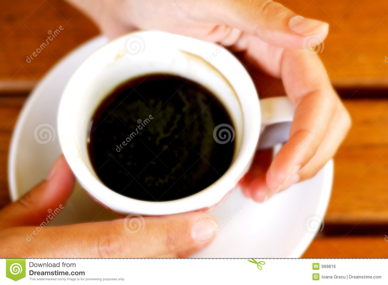 Hands Holding A Cup Of Coffee Stock Photo - Image of ...