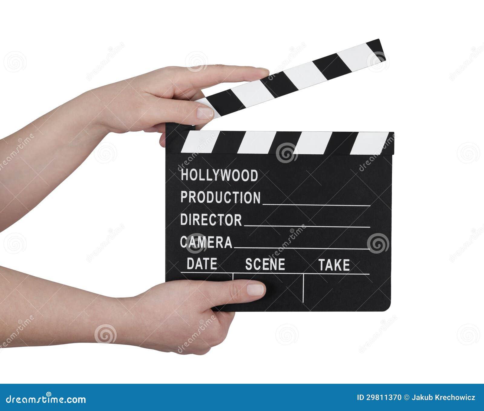 Movie clapboard make