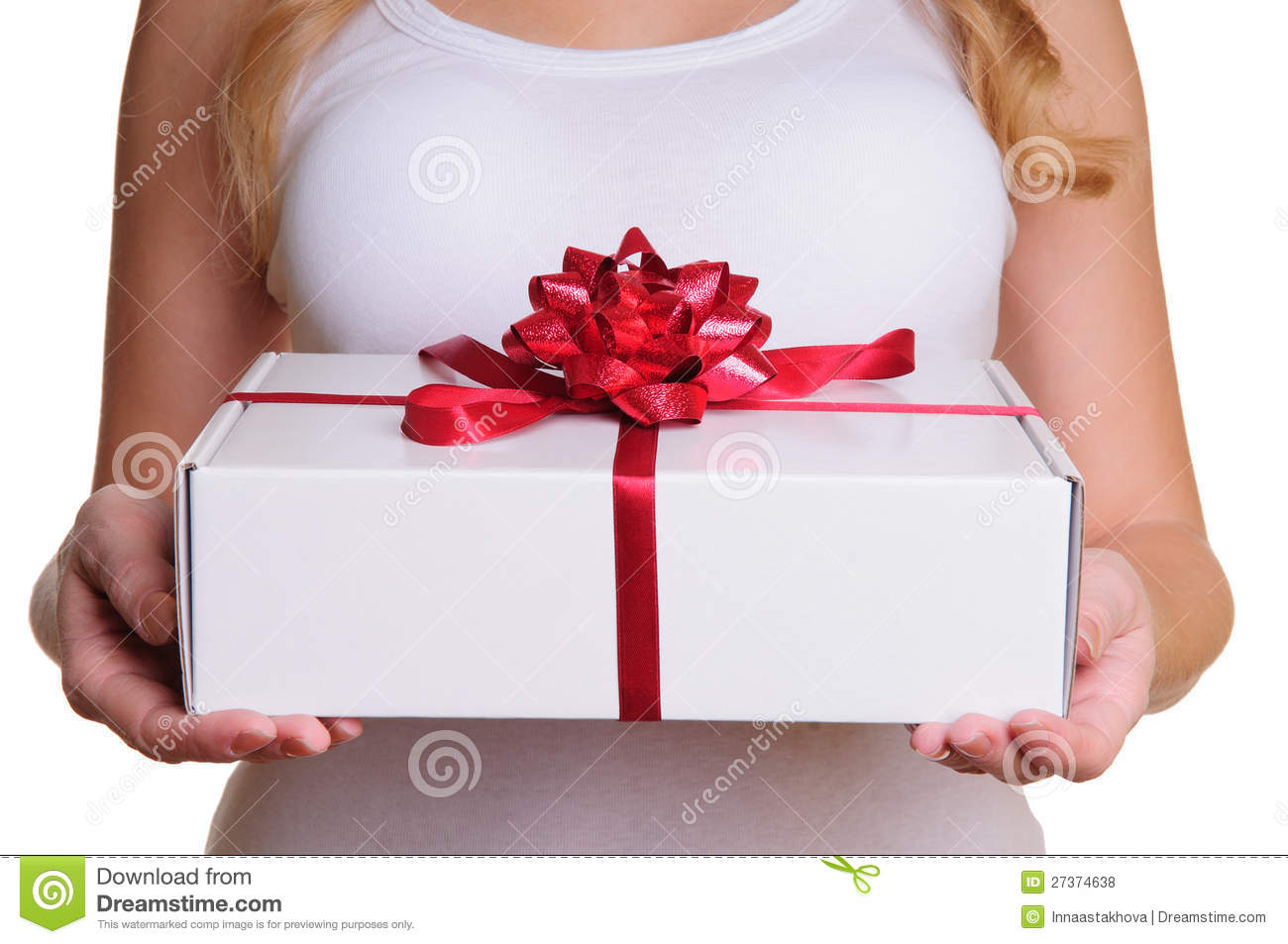 Hands holding gift box stock photo. Image of body, holding ...