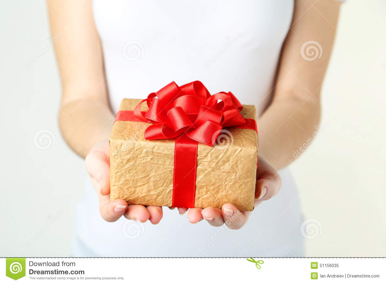 Hands holding gift box stock image. Image of hands ...