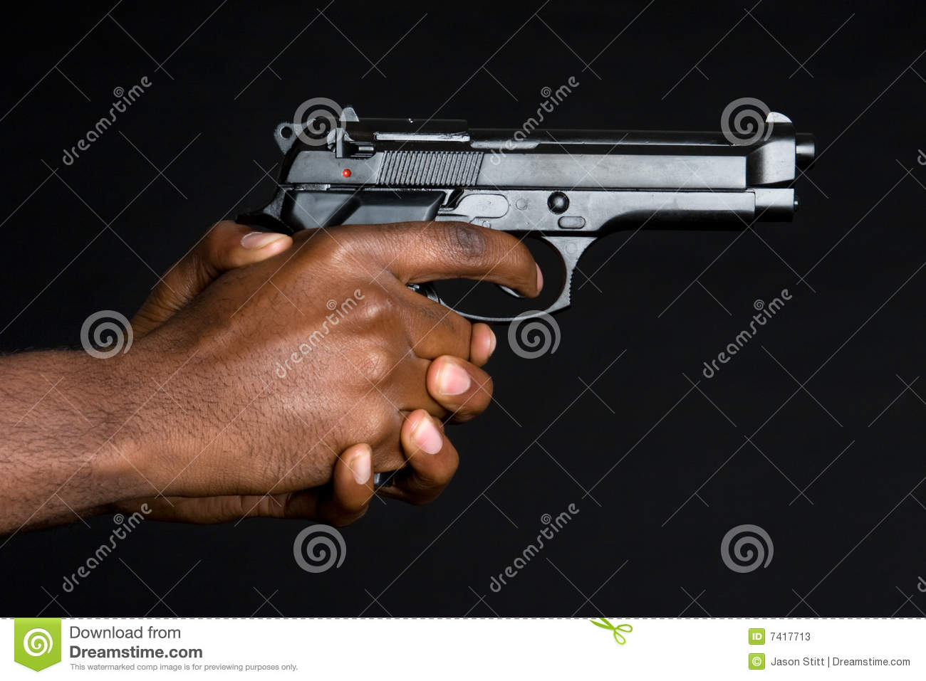 Hands Holding Gun Stock Photos - Image: 7417713