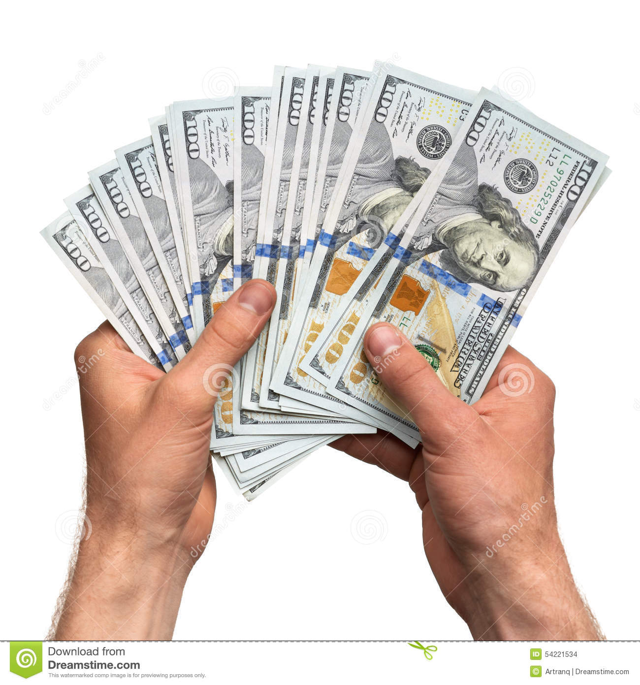 Hands Holding Handful Of Money Stock Photo - Image of ...Holding Money In Hand