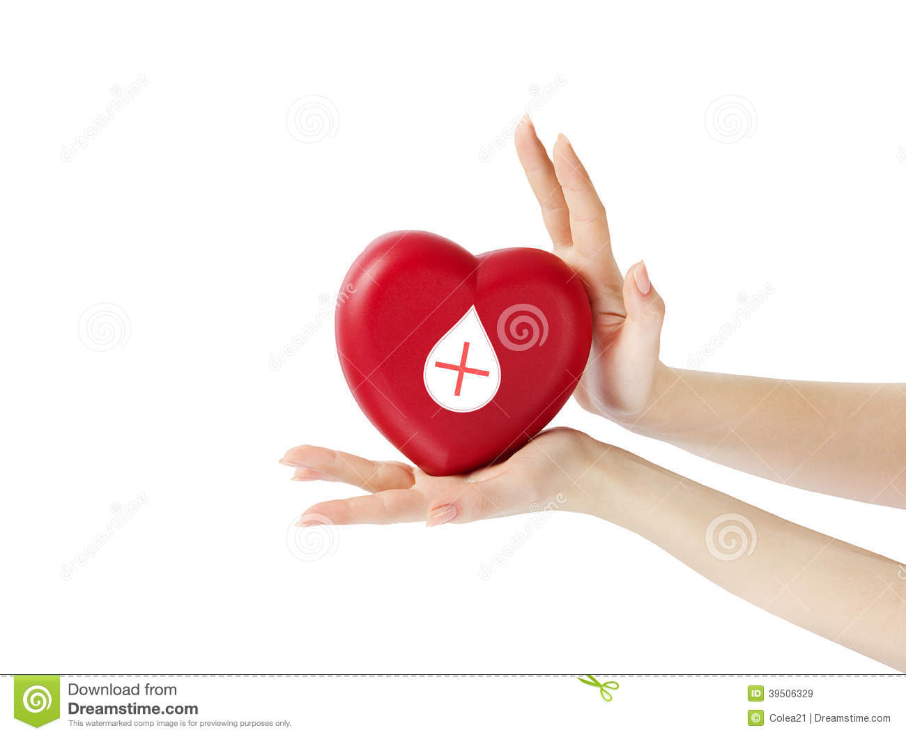 HANDS HOLDING A HEART WITH DONOR SIGN