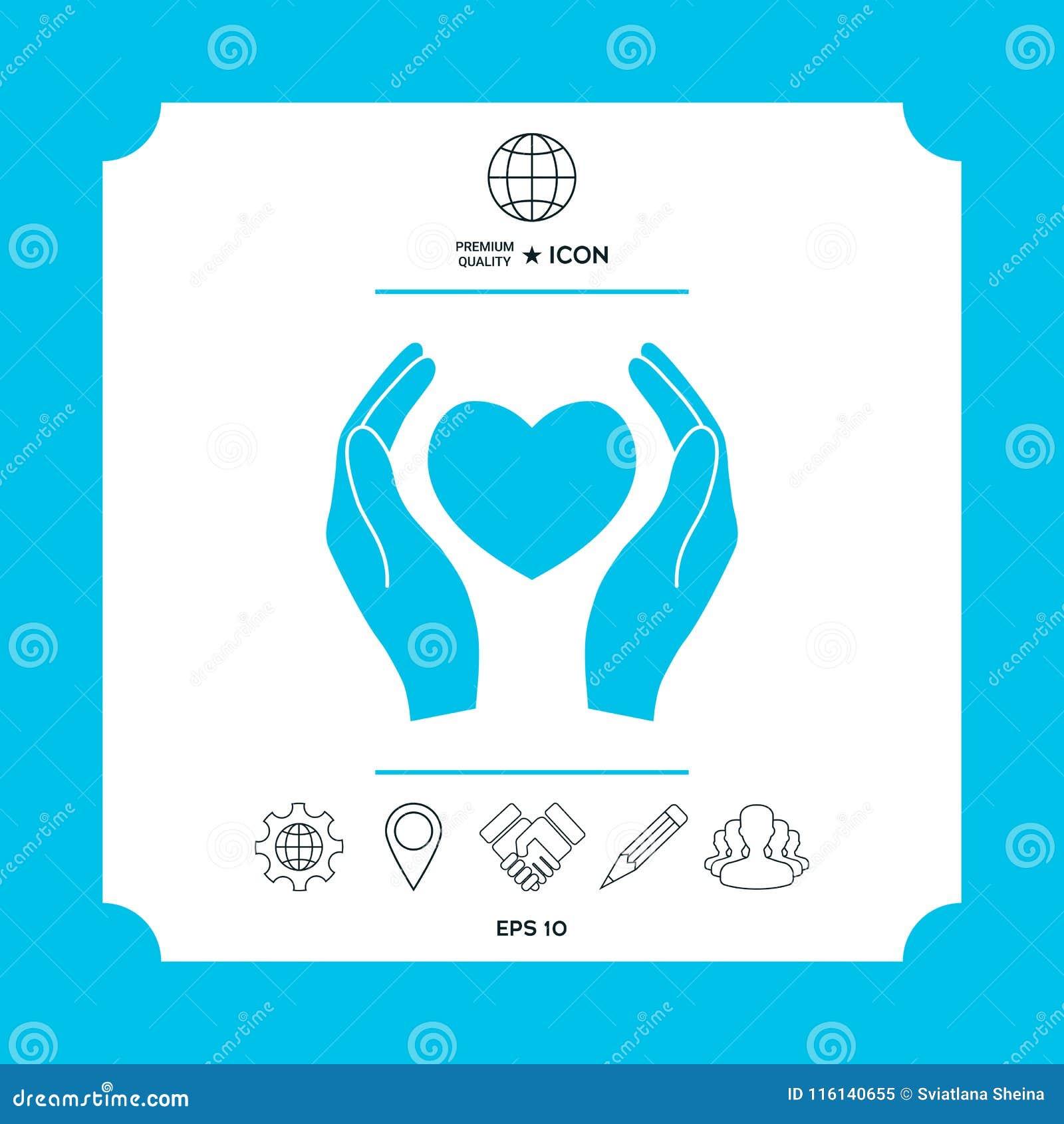 Hands Holding Heart Symbol Stock Vector Illustration Of Hold
