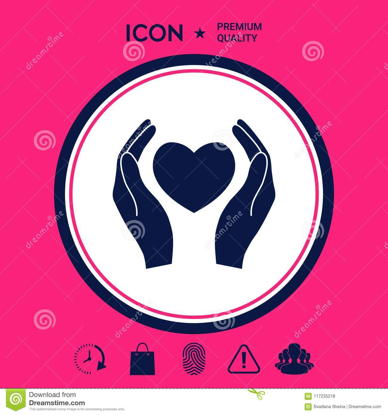 Hands Holding Heart Symbol Stock Vector Illustration Of Peace