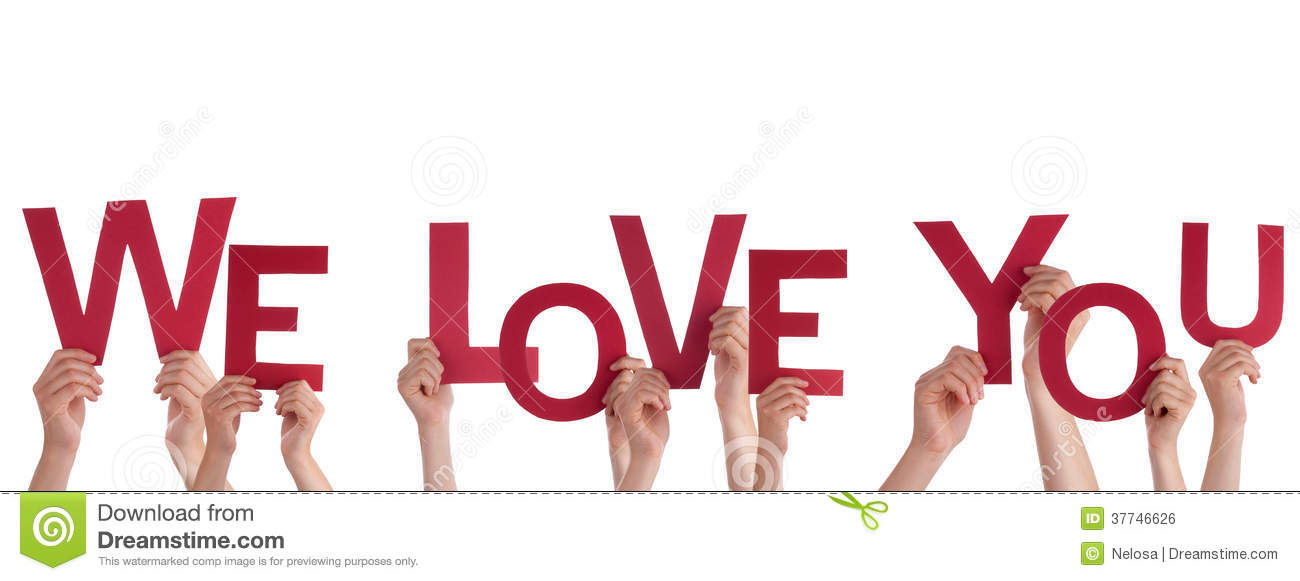 Hands Holding We Love You Royalty Free Stock Image - Image: 37746626