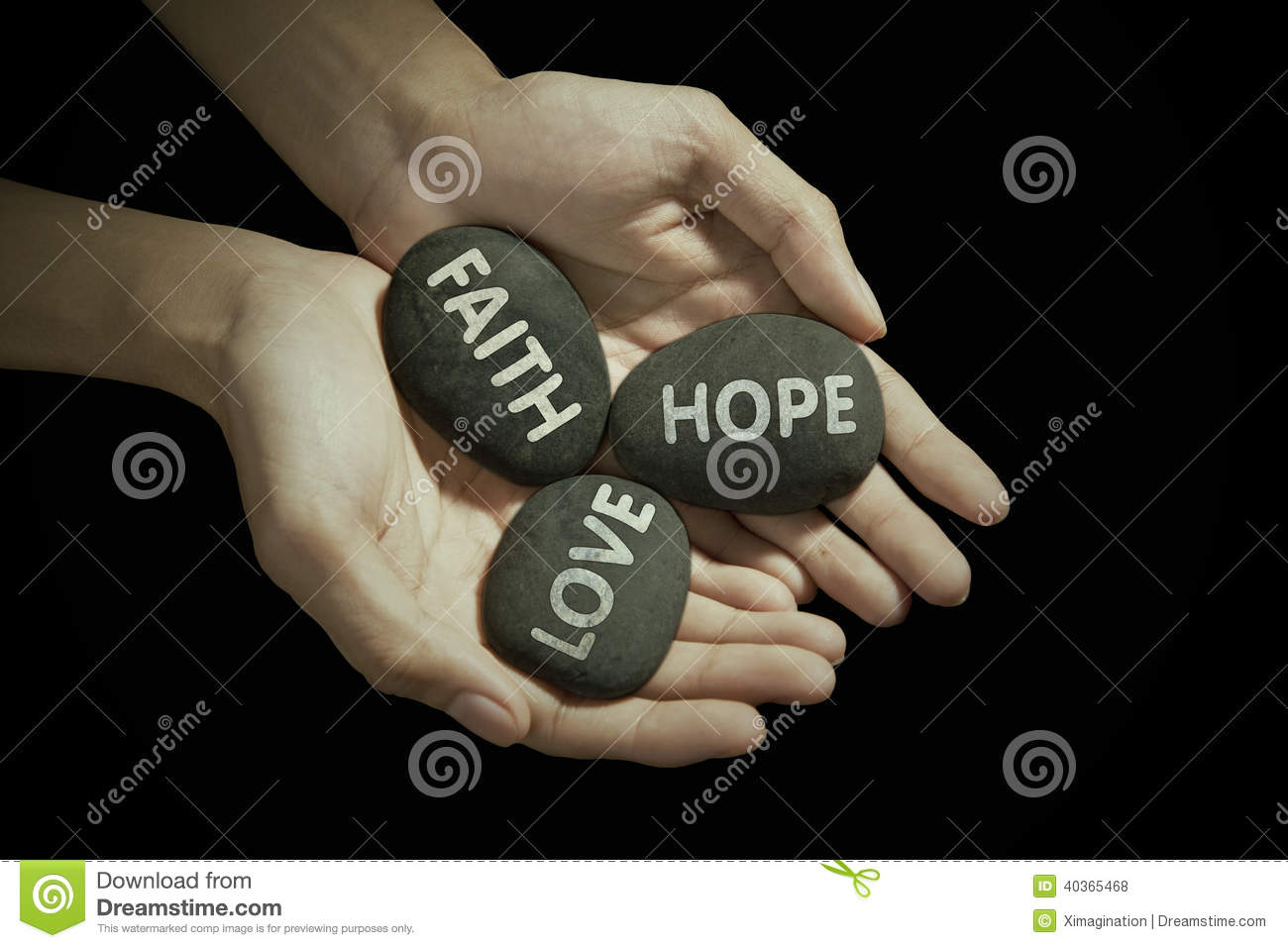 Hands Holding Religious Text Stock Photo - Image: 40365468