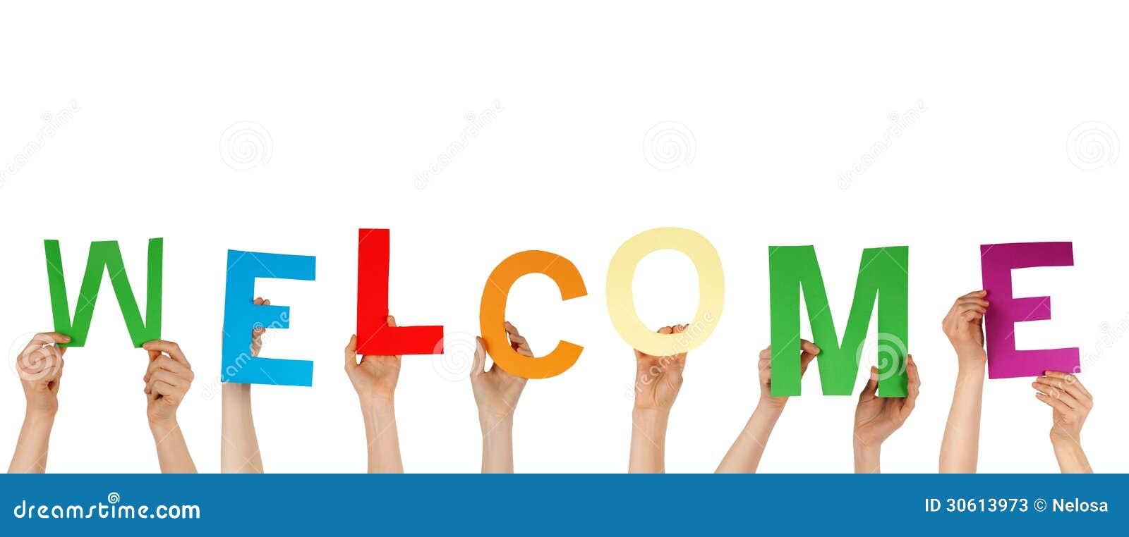 Welcome hands png