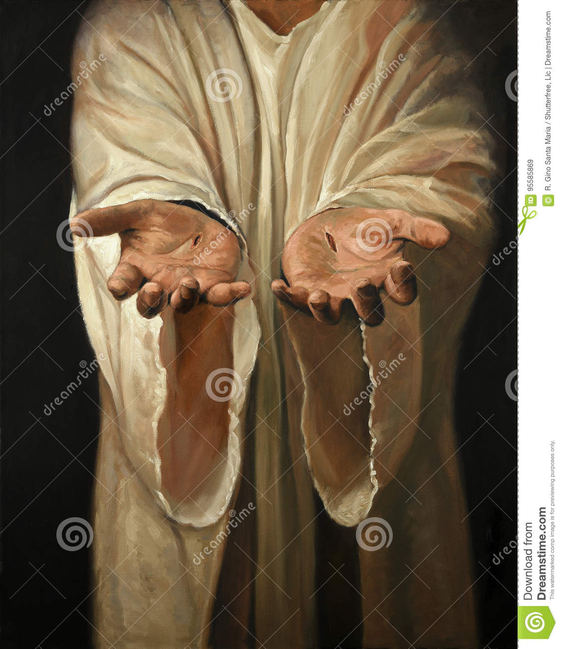 Hands of Jesus Painting