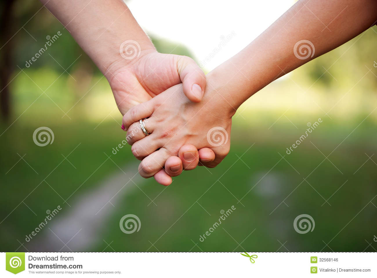 Hands Of A Loving Couple Concept Of Friendship Stock Photo Image
