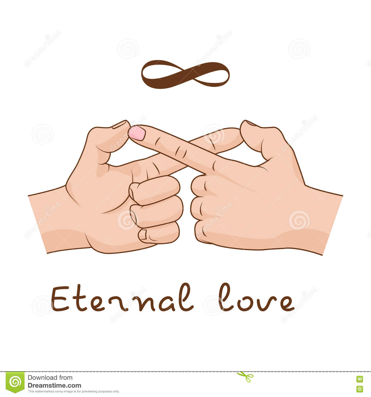 Hands making infinity symbol eternal love and friendship vector hands making infinity symbol eternal love and friendship vector illustration biocorpaavc