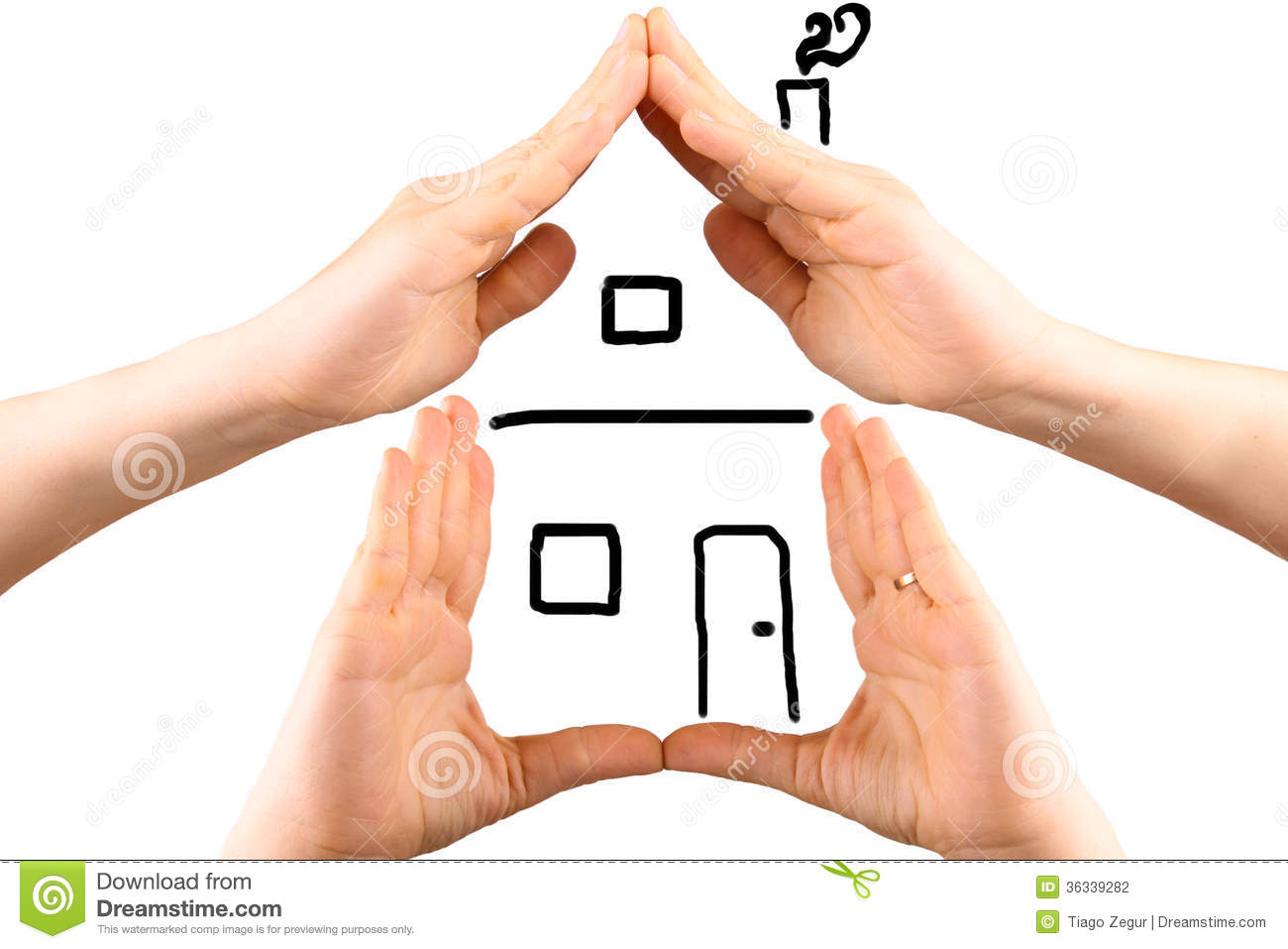 Hands Making The Shape Of A House Stock Photography