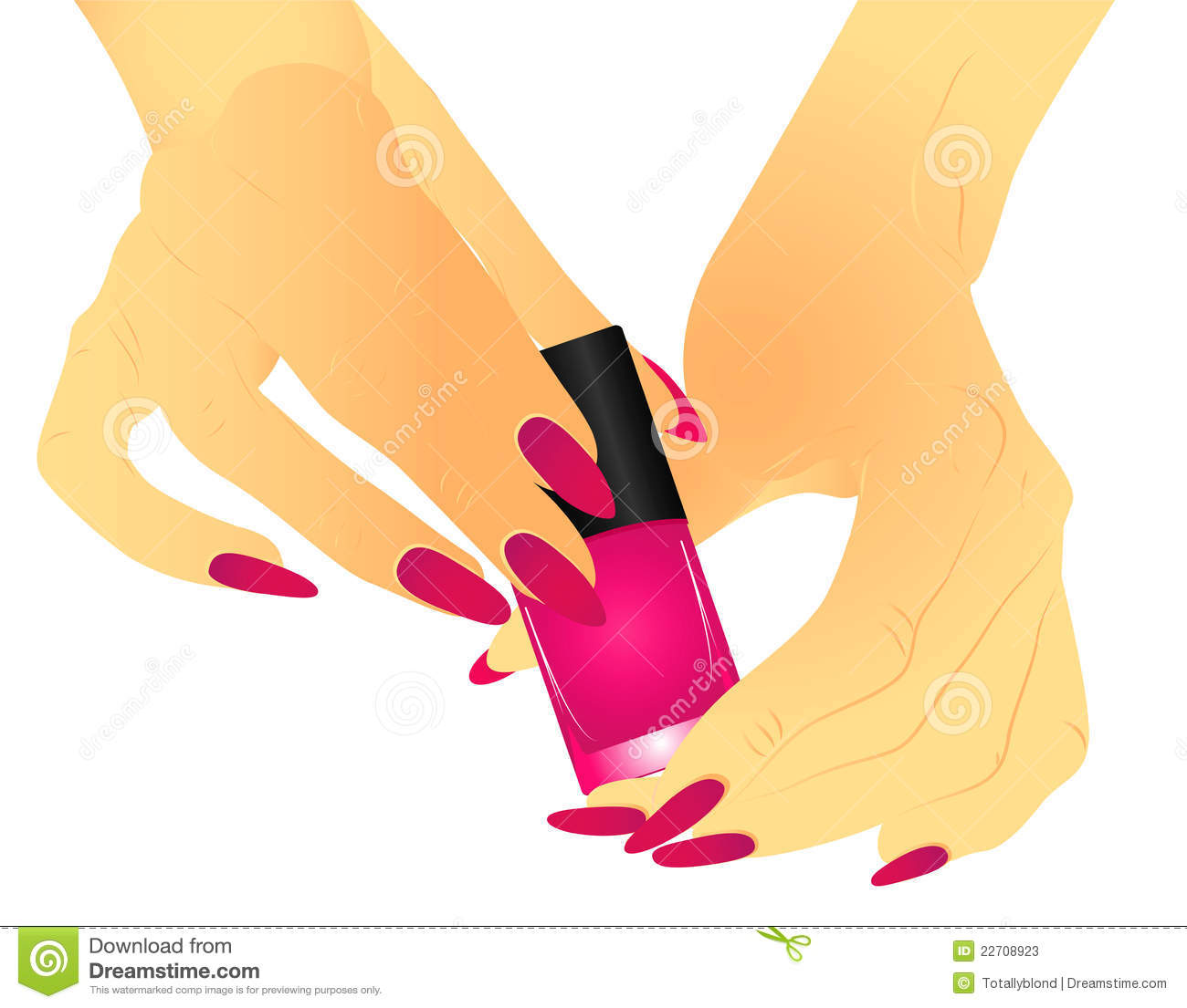 Nail Polish Colors For Younger Looking Hands: Hands With Manicure Holding A Nail Polish Stock Photos