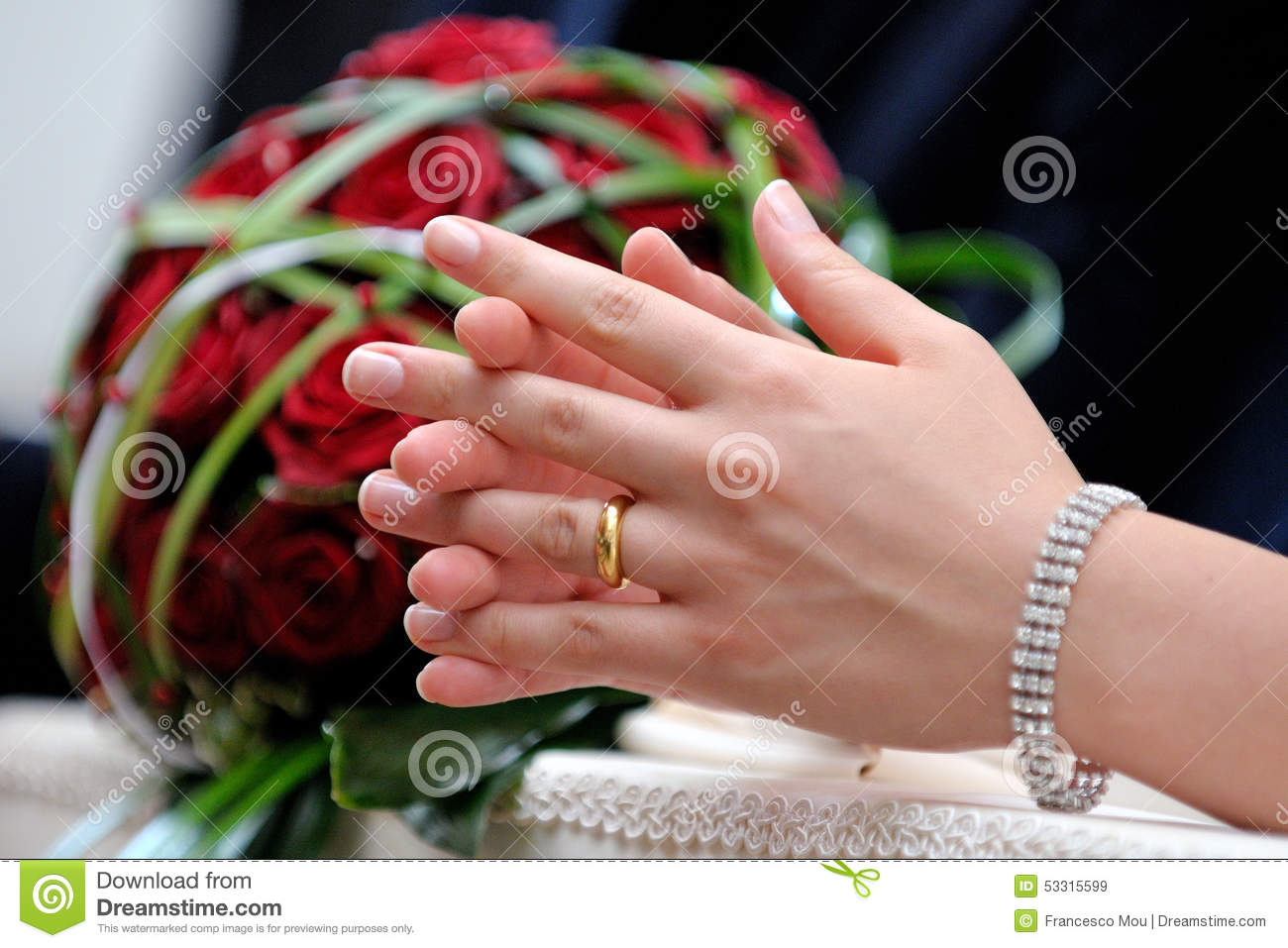 Hands in marriage stock image. Image of promise, marriage - 53315599