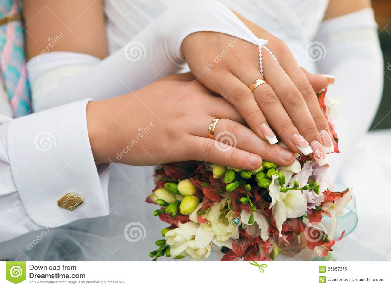 Hands Men And Women With Wedding Rings Stock Image Image Of Life