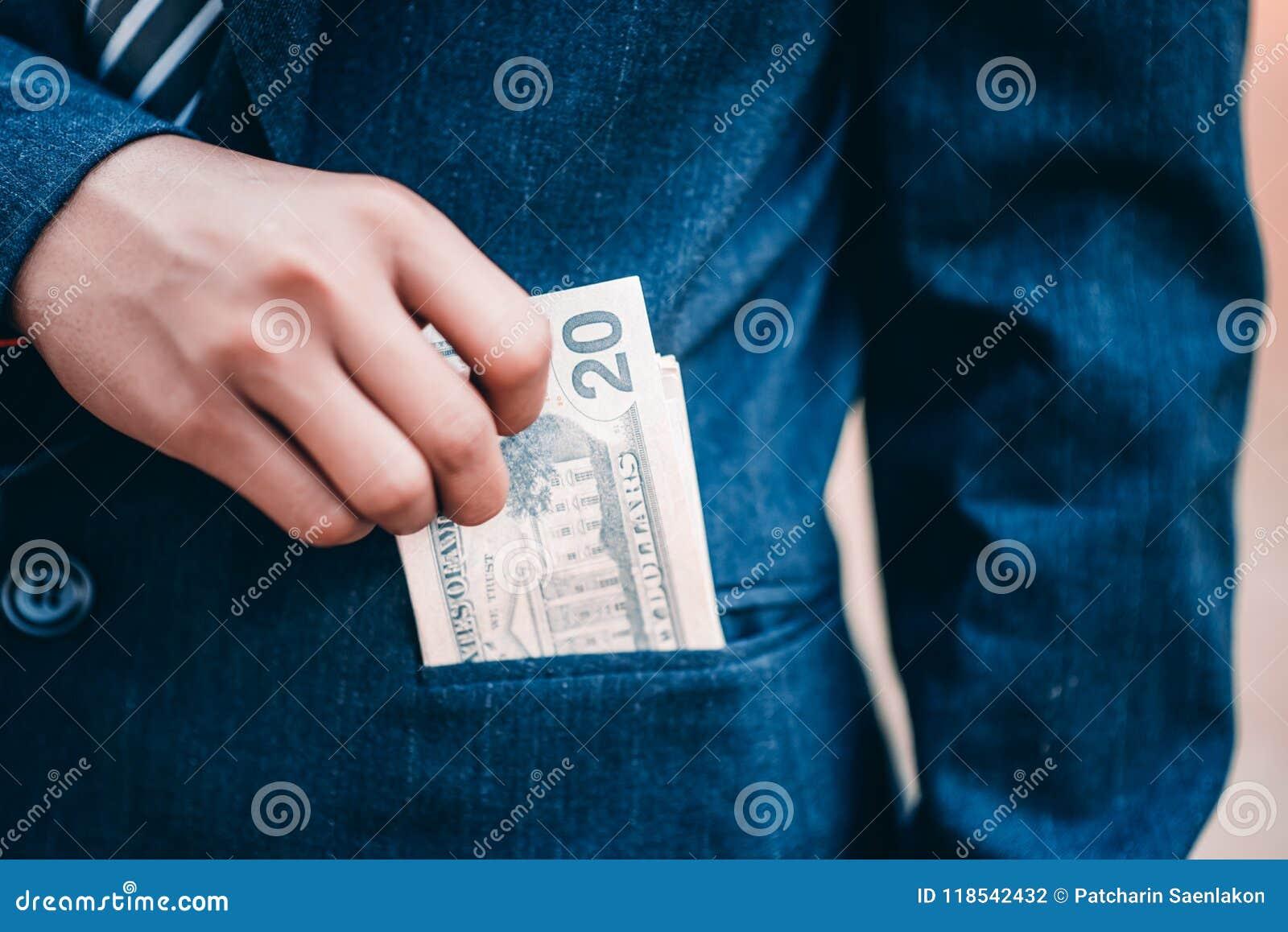 Hands and money of financiers