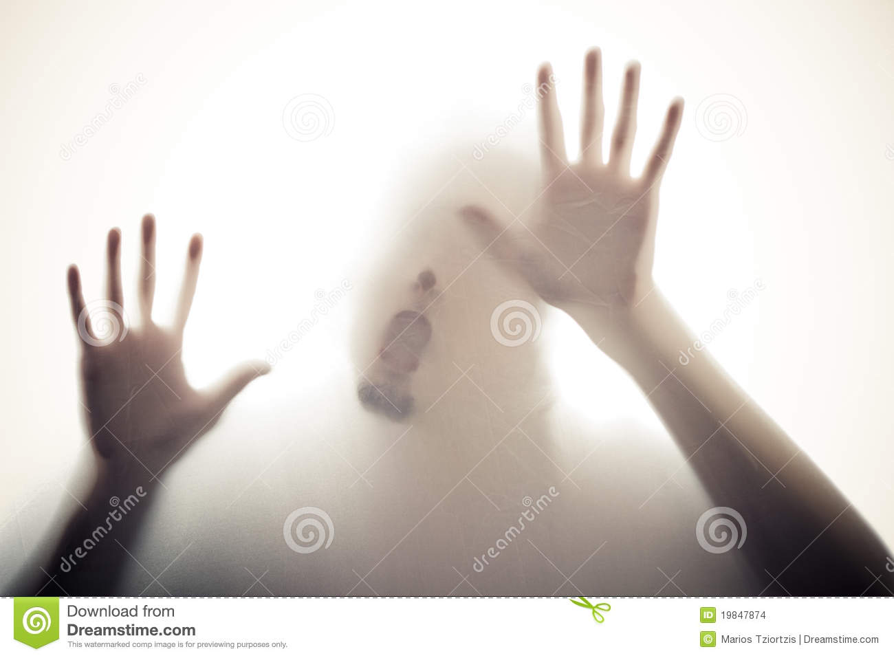 Hands And Mouth On Glass Stock Images Image 19847874