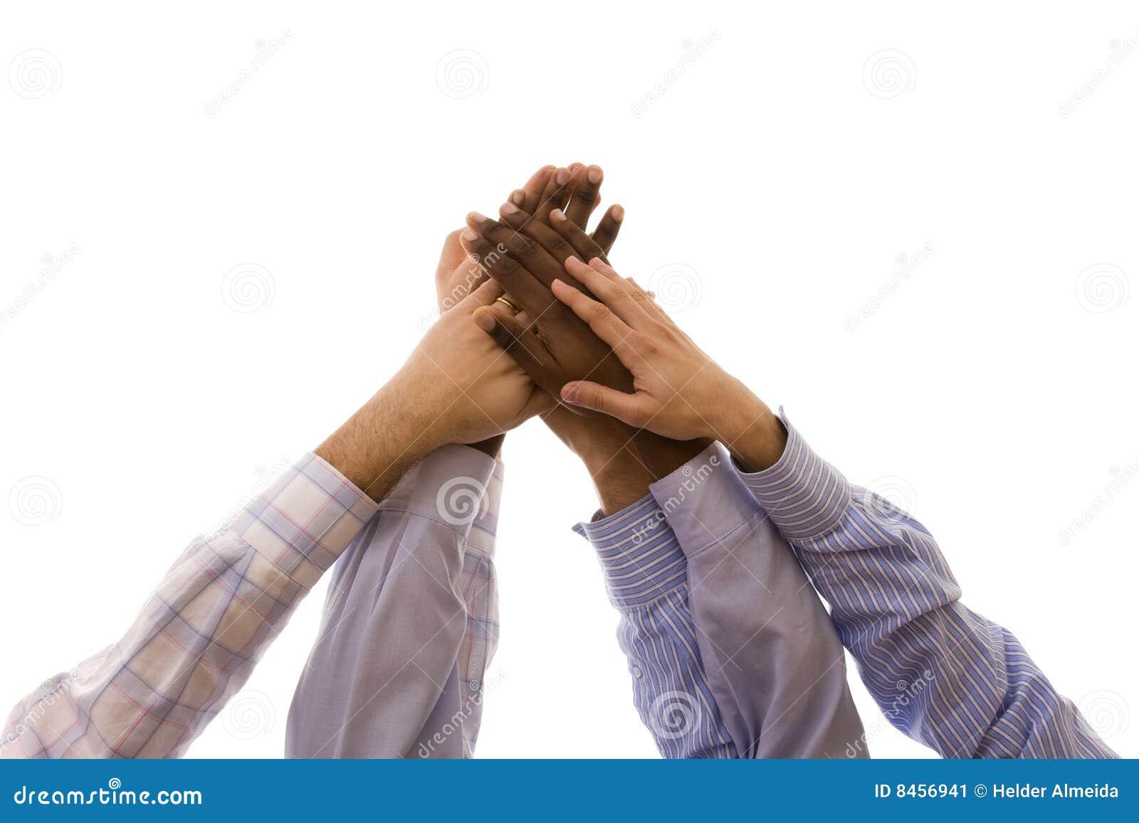 Hands multiracial enigt