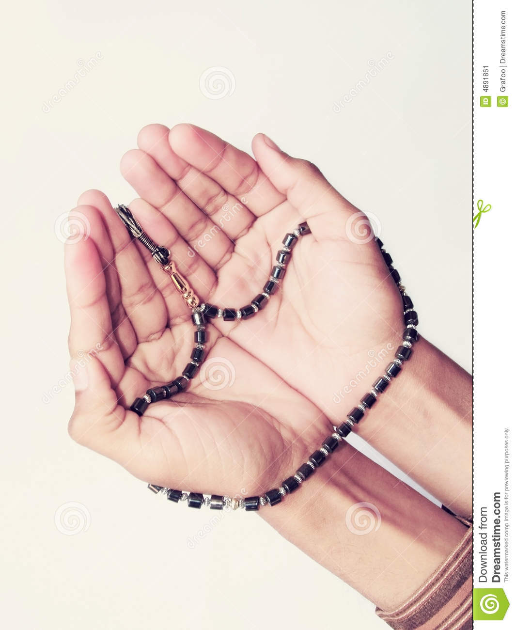 Hands With Muslim Prayer Beads Stock Image - Image: 4891861