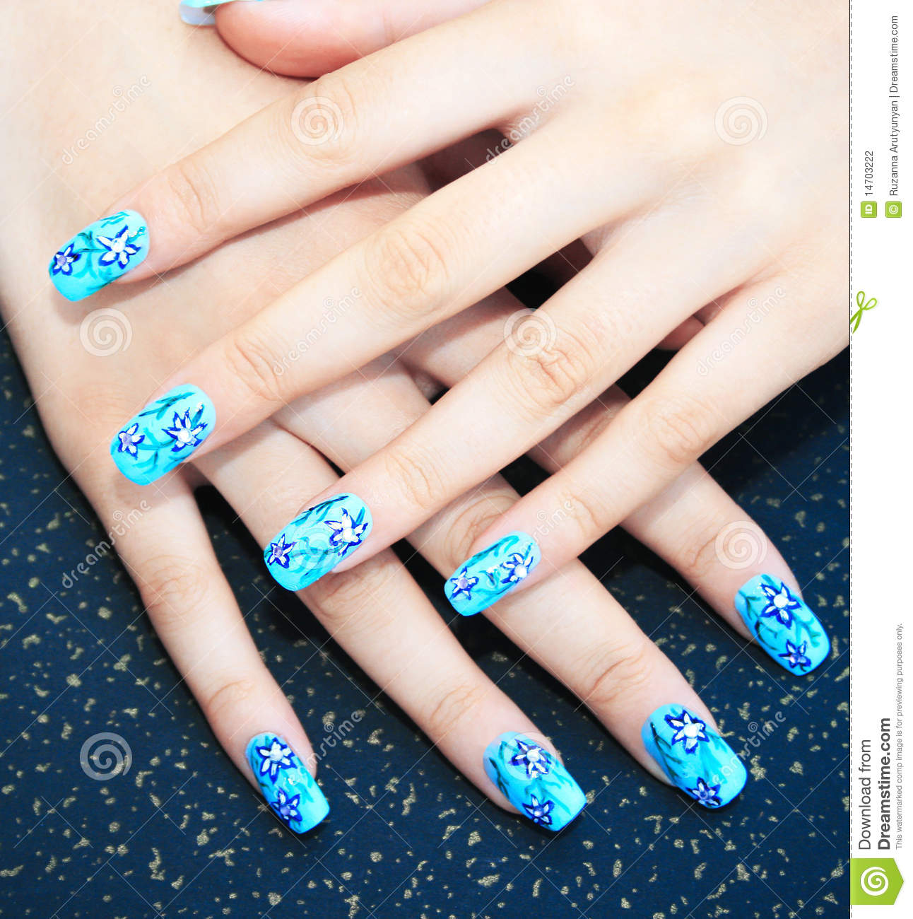 Hands With Nail Art Stock Photo Image Of Artistically 14703222