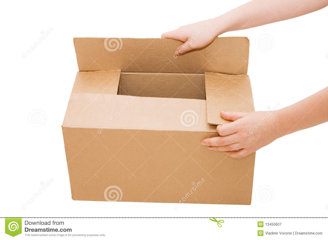 hands open a cardboard box isolated stock image image of packaging christmas 13450607. Black Bedroom Furniture Sets. Home Design Ideas