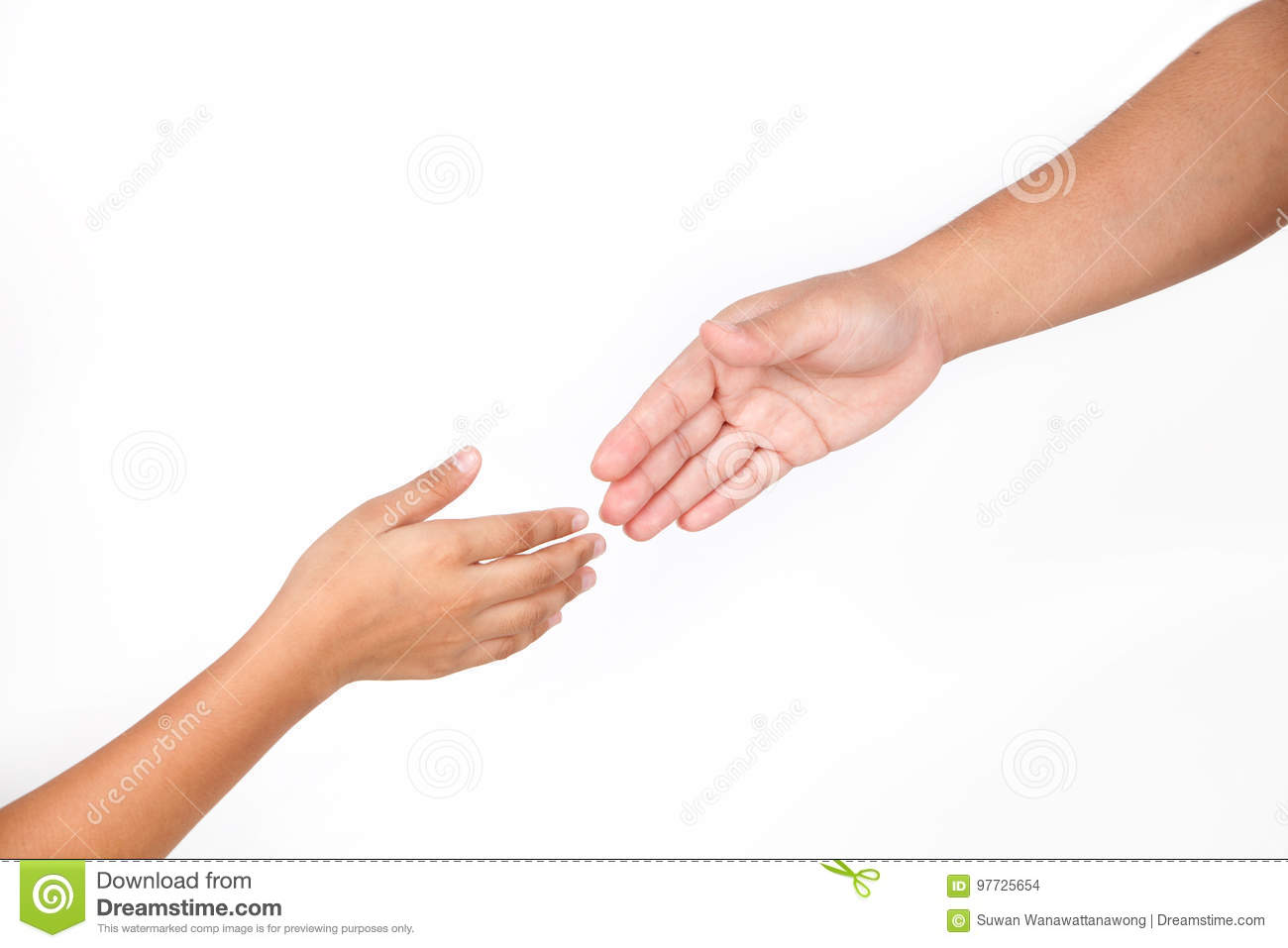 Hands Is Part Of Body Woman And Kid Isolated For Helping ...