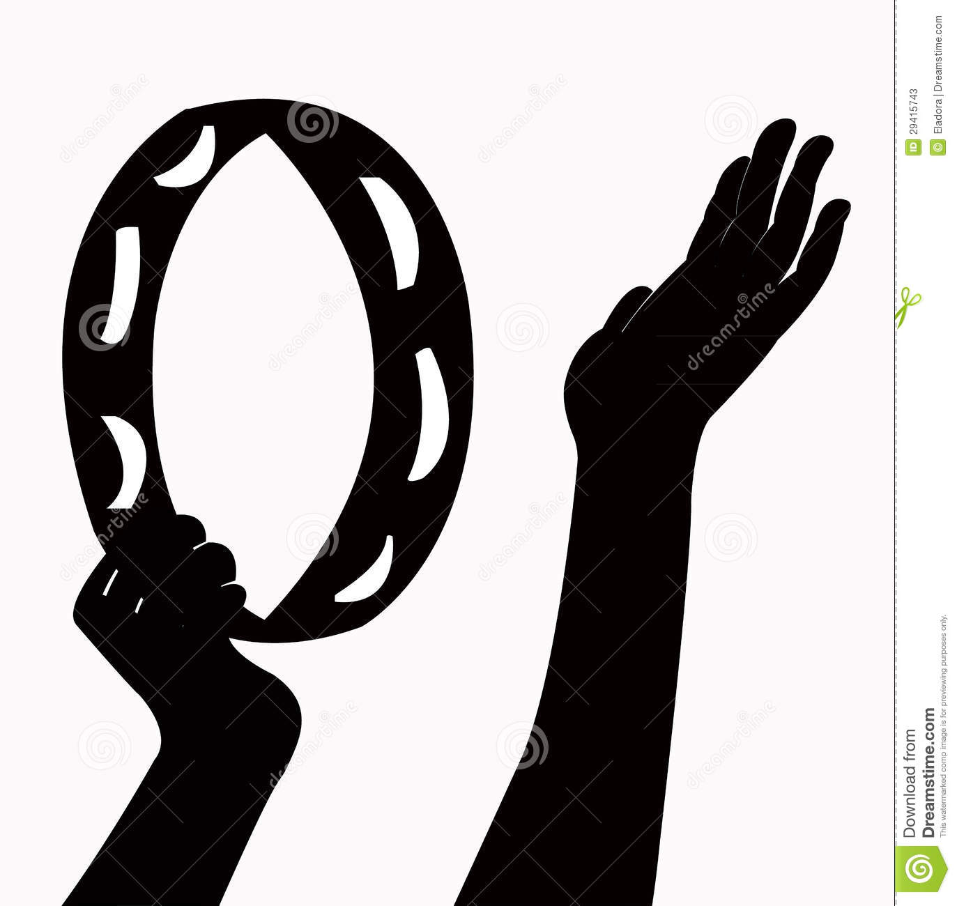 Hands Playing Tambourine Vector Stock Photos - Image: 29415743 White Drum Set Silhouette
