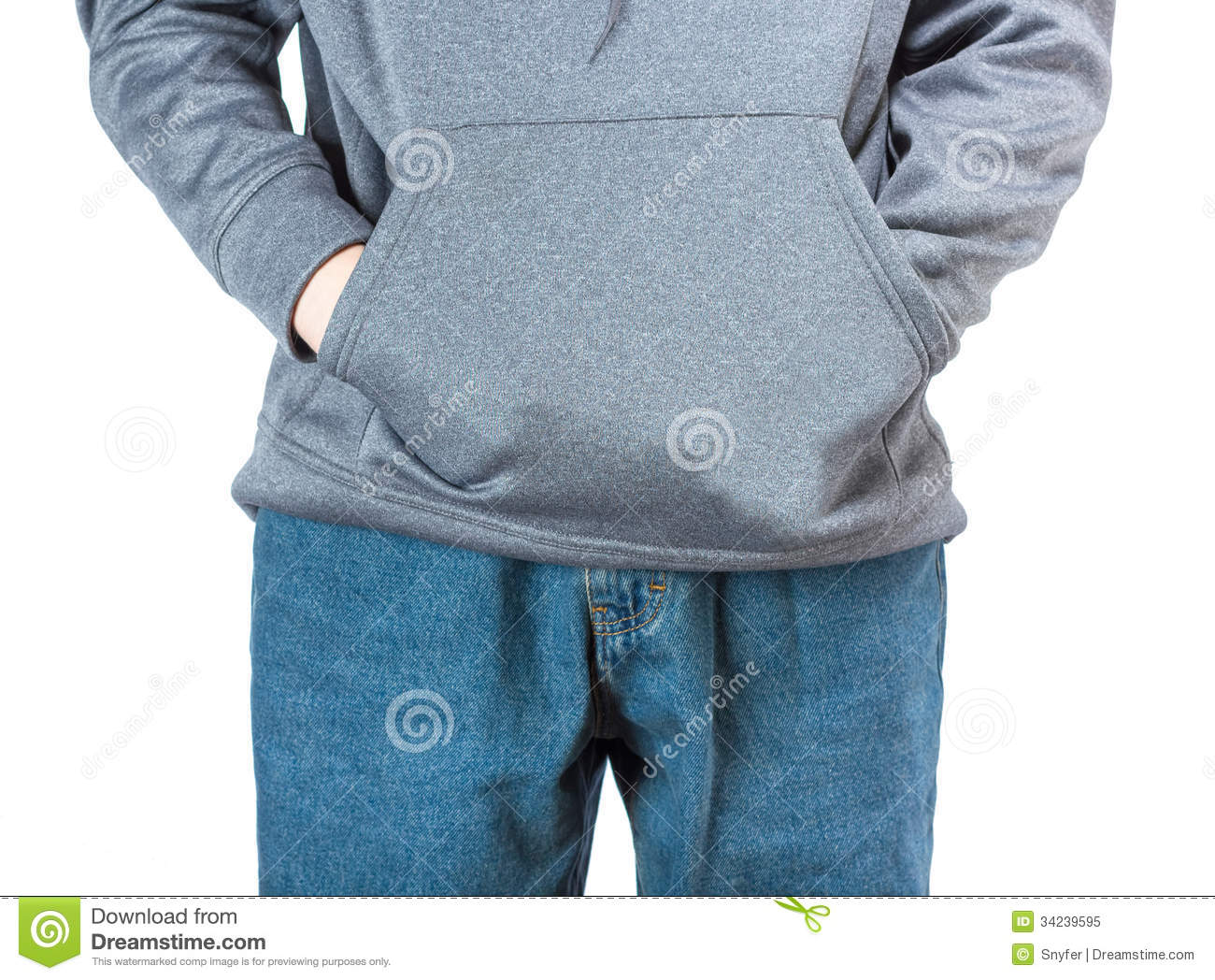 Hands In A Pocket Royalty Free Stock Photo Image 34239595