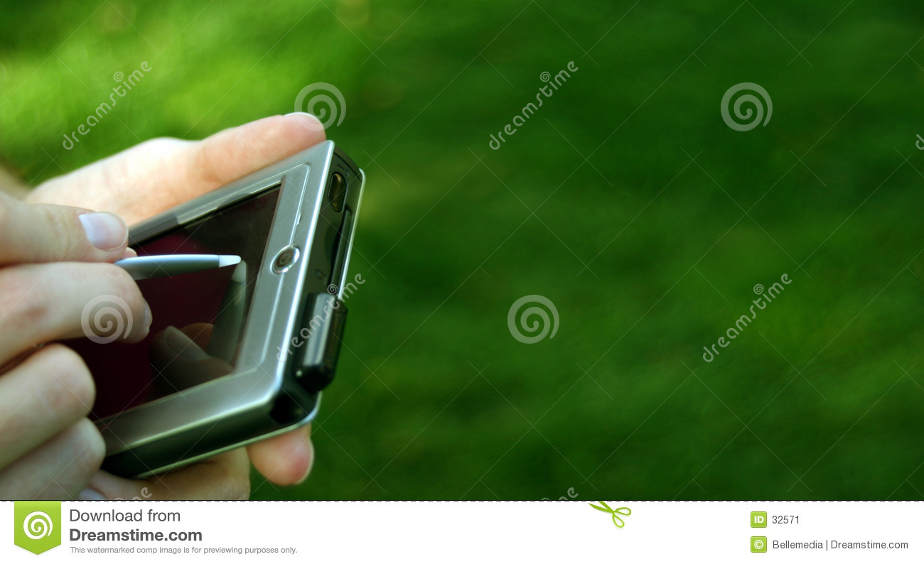 Hands with a pocket pc