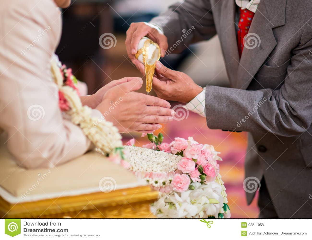 Hands Pouring Blessing Water Stock Photo - Image of love ...