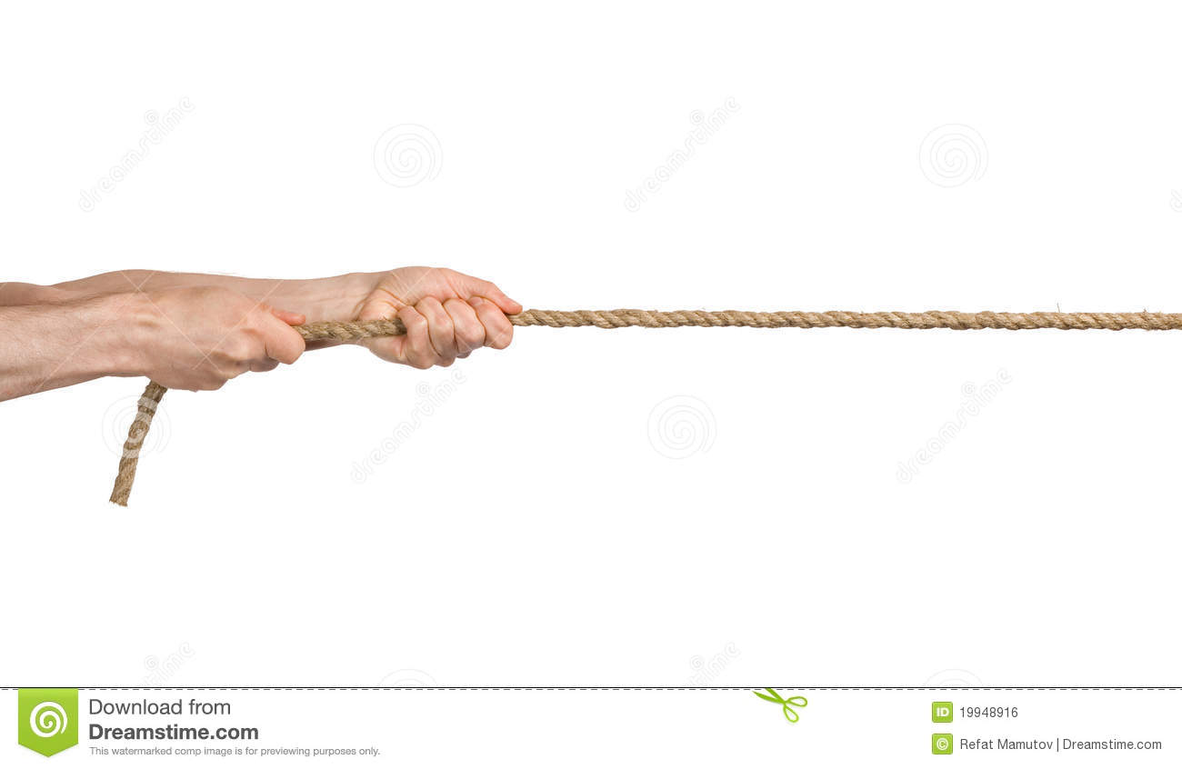 hands pull a rope stock photo image of pulling close 19948916