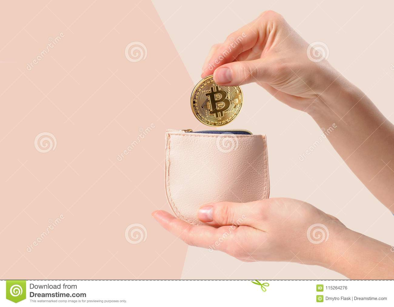 putting money into a cryptocurrency wallet