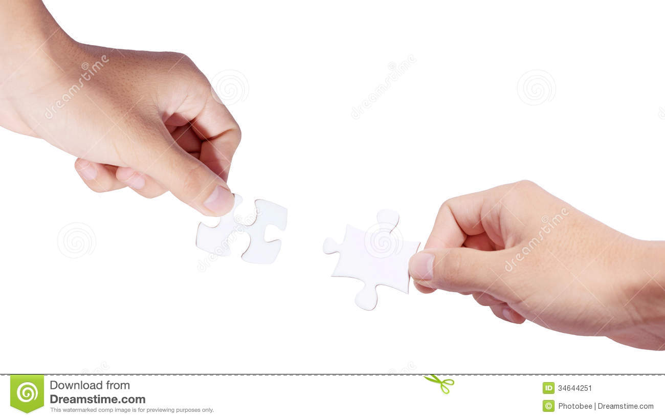 Hands and puzzle Connecting Hands