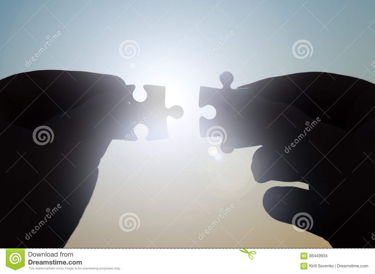 Download Hands With Puzzles Circuit In The Sun Stock Photo - Image of cooperation, business: 86449934