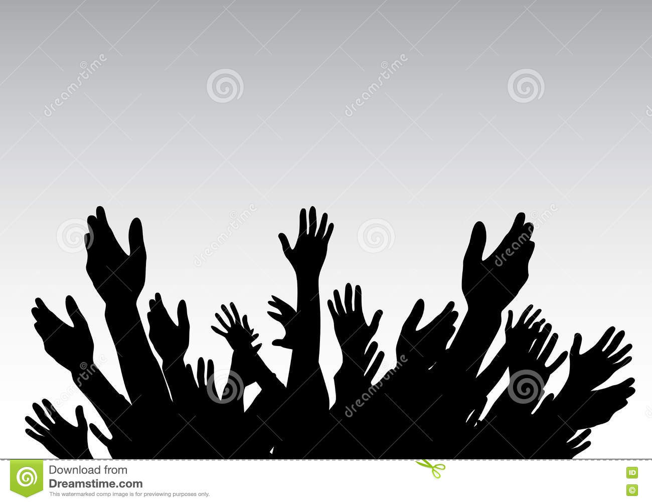 Hands Raised Up Symbol Of Freedom The Choice Fun Vector Ill