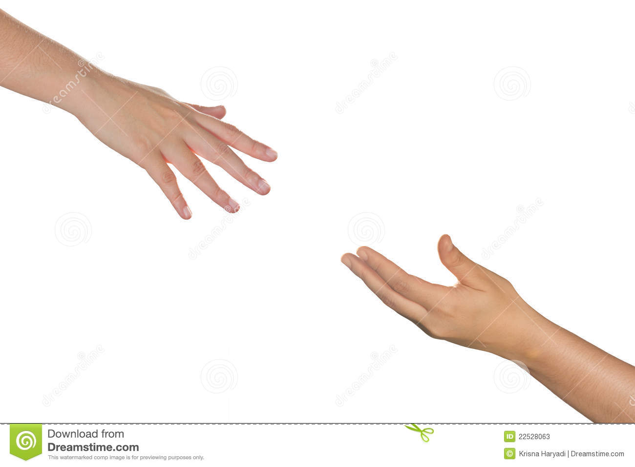 hands reaching each other stock image image of male