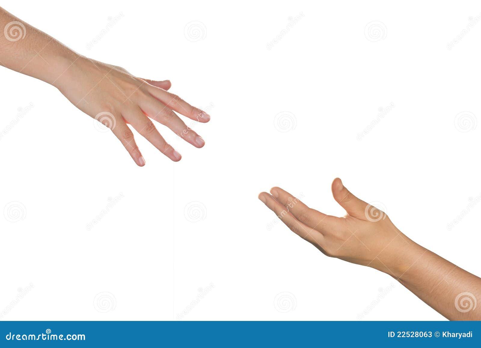 Reaching Hands Clip Art Hands reaching each other