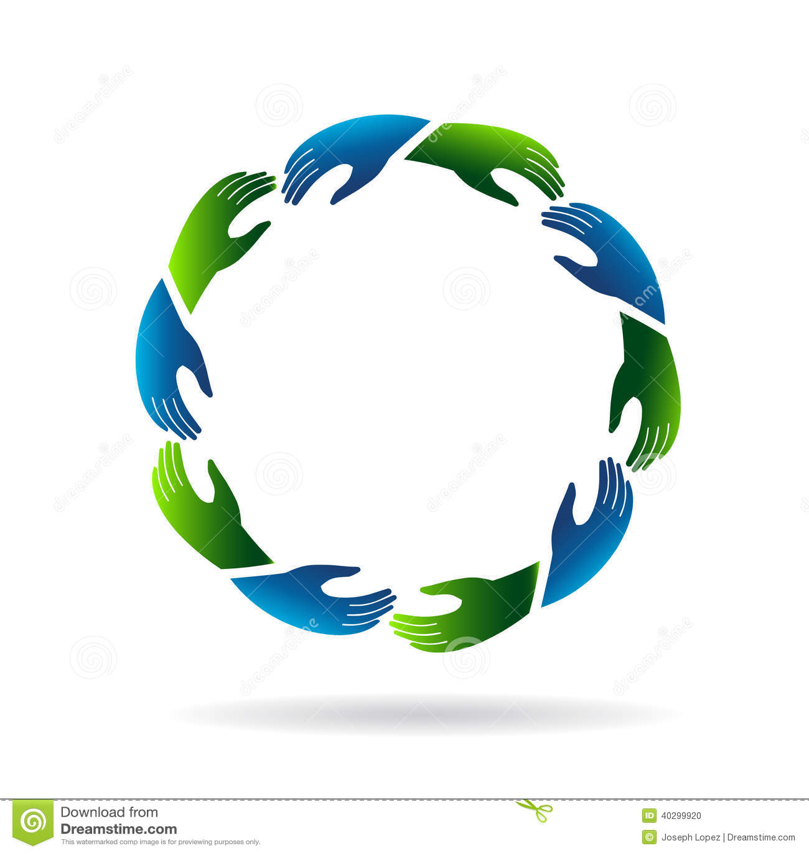 Hands Reaching Image Logo Stock Vector Image 40299920