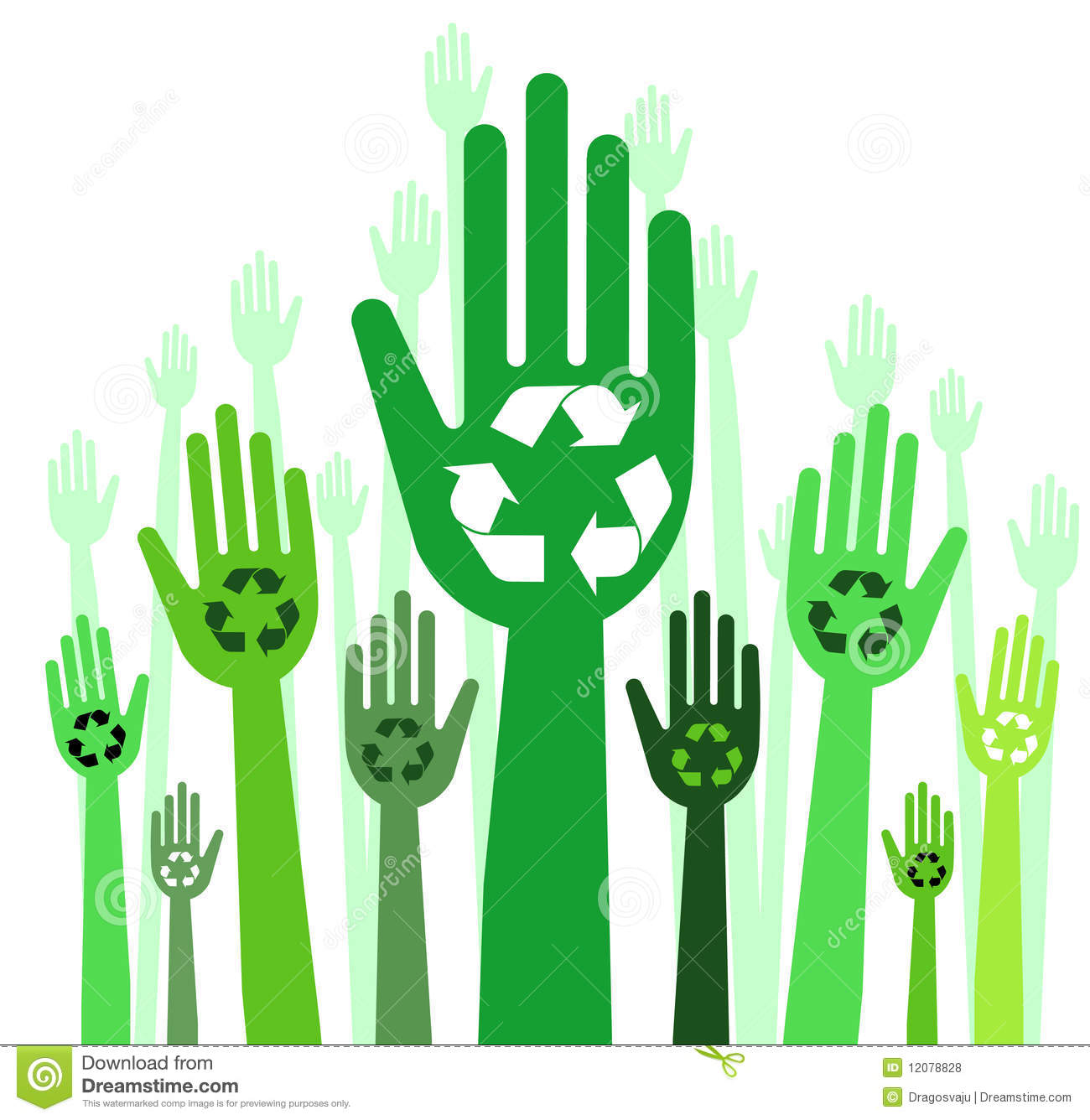 Hands With Recycle Concept Royalty Free Stock Photos - Image: 12078828