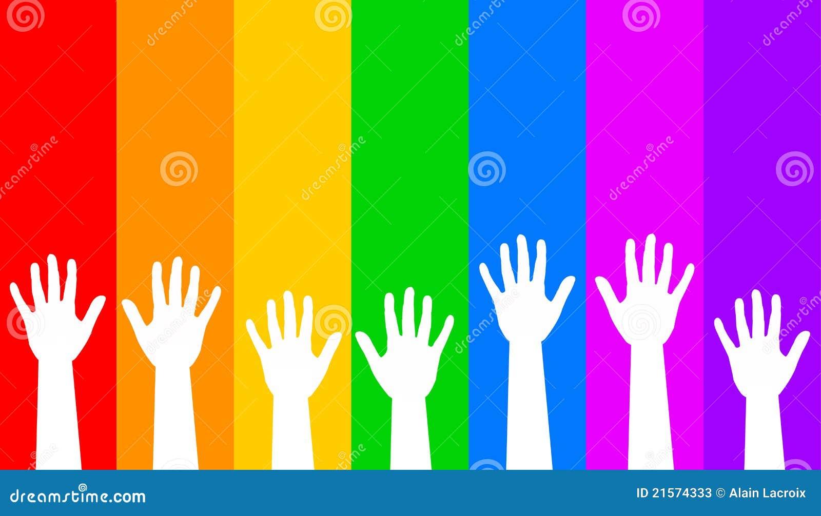 Hands regnbågen