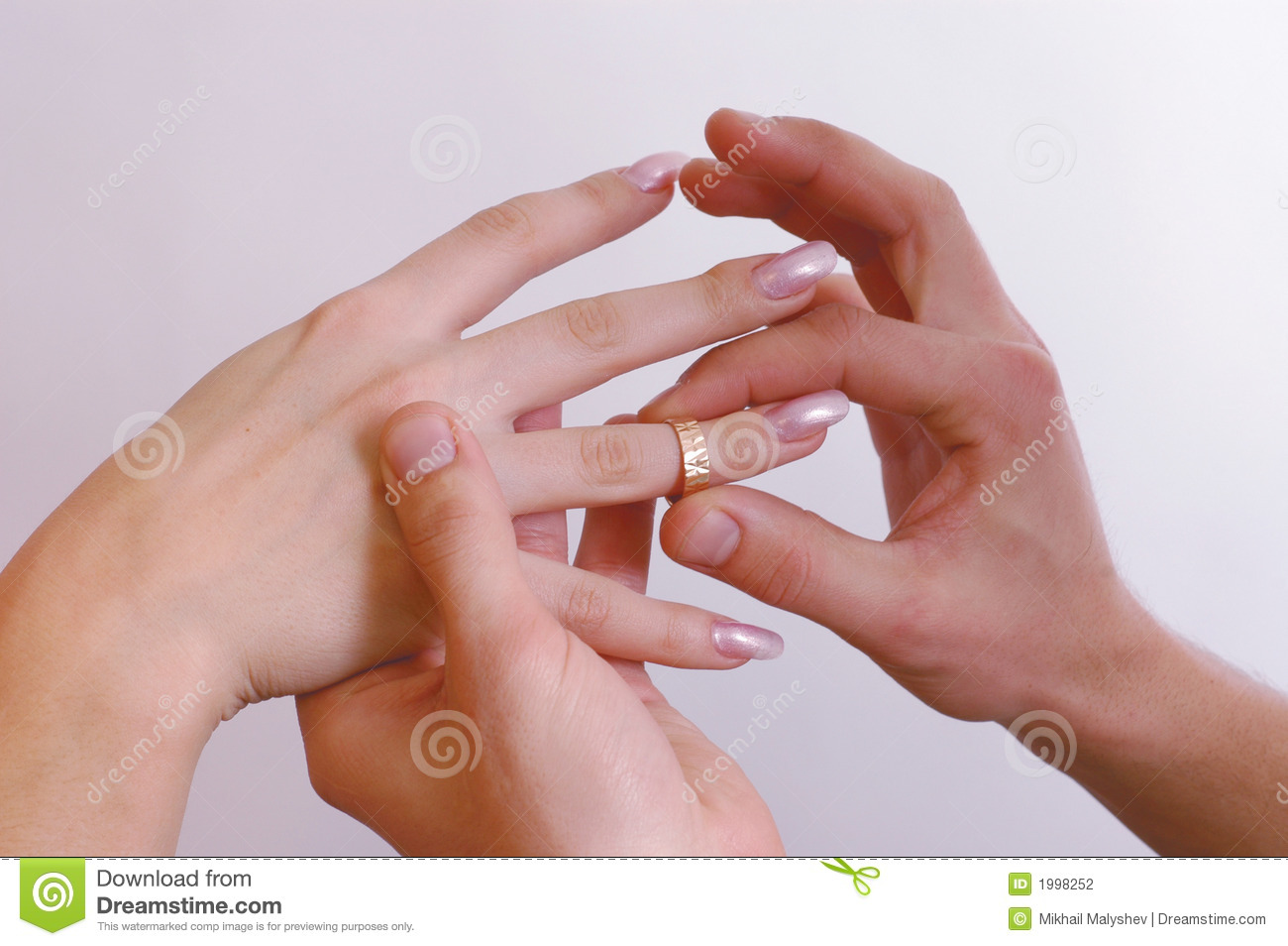 Hands with rings stock photo. Image of groom, affectionate - 1998252