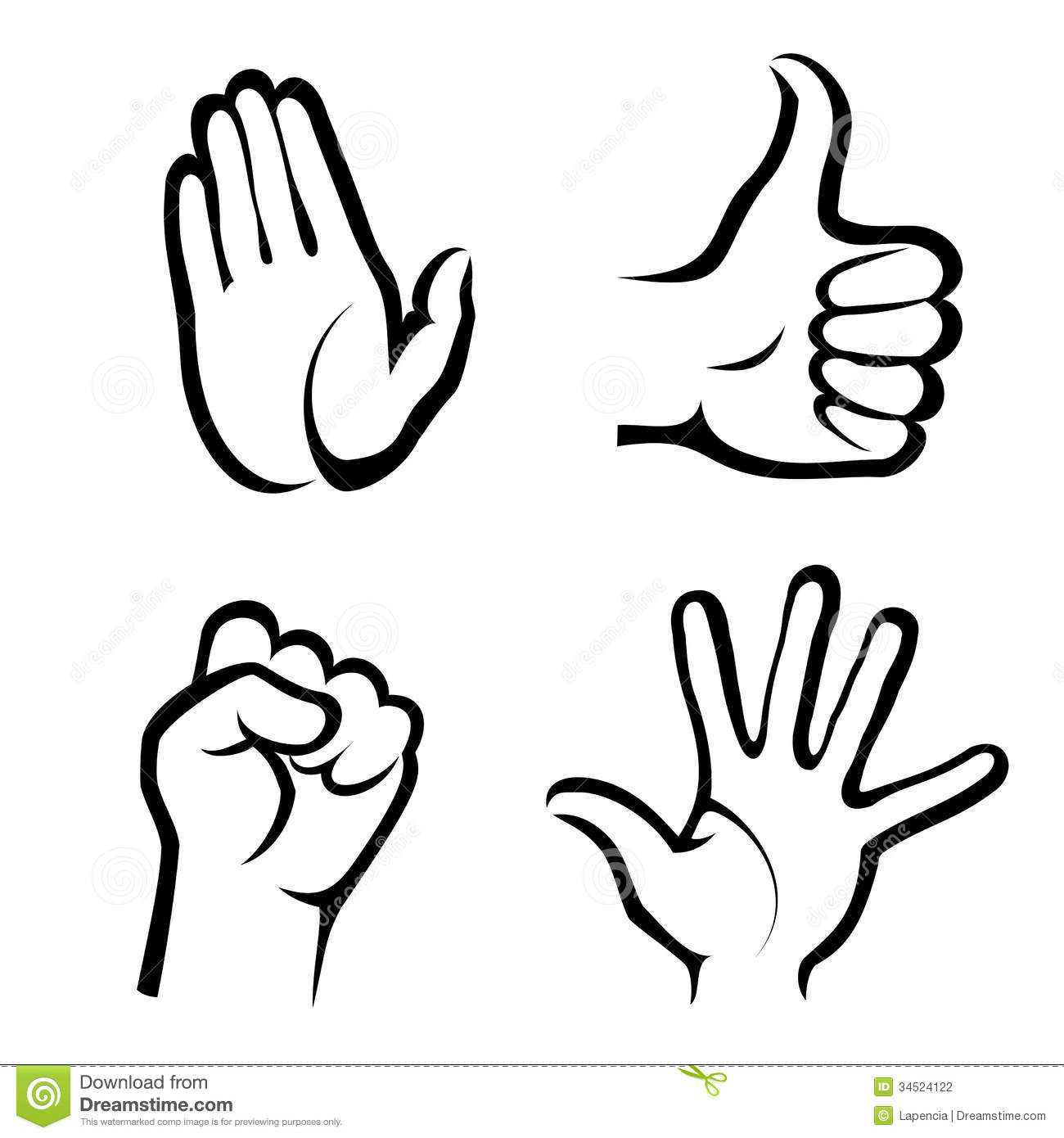 Hands Symbols Collection Stock Vector Illustration Of Figure 34524122